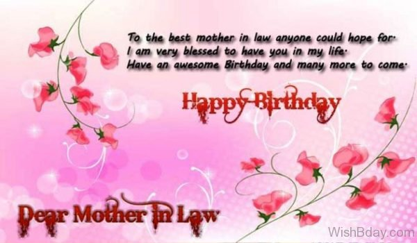 To The Best Mother In Law Anyone Could Hope For