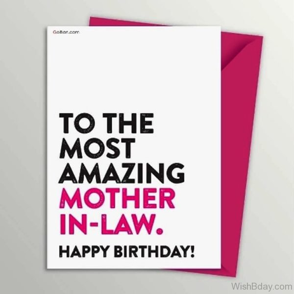 To The Most Amazing Mother In Law