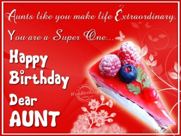 Very Happy Birthday Dear Aunt