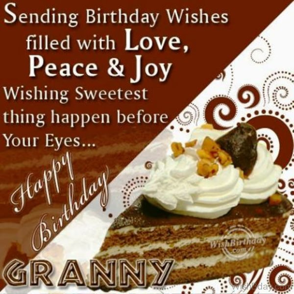 Very Happy Birthday To A Caring Grandmother