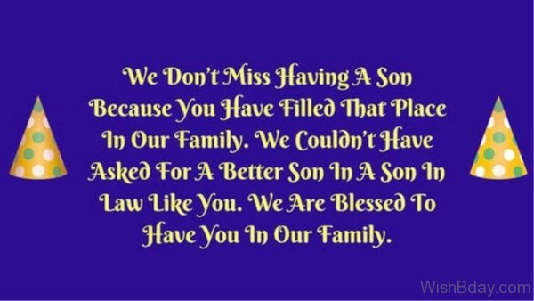 We Are Blessed To Have You In Our Family 1
