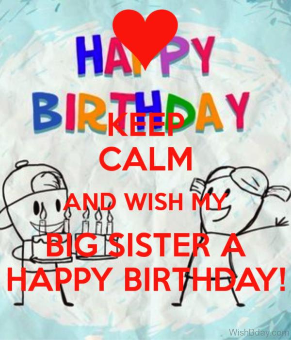 Wish My Big Sister A Happy Birthday
