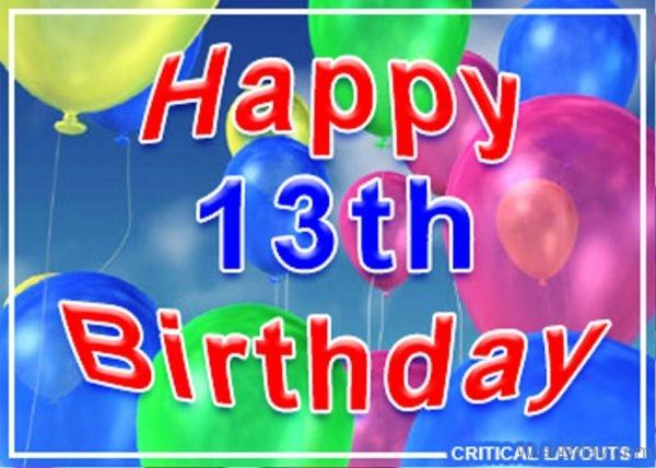 Wish Thirteenth Birthday Image