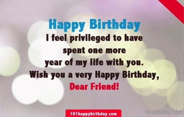 Wish You A Very Happy Birthday Dear Friend