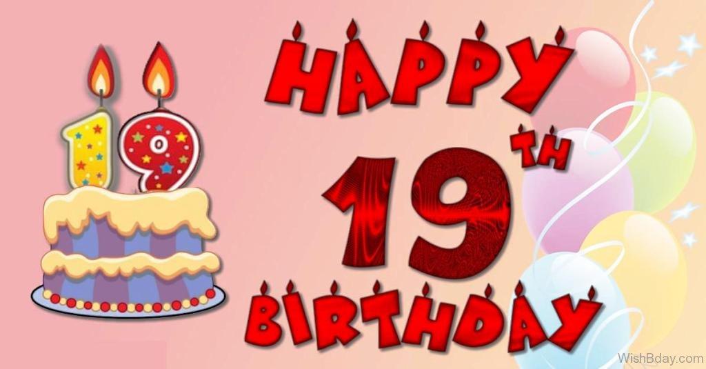 Nineteen Years Old Birthday Cake