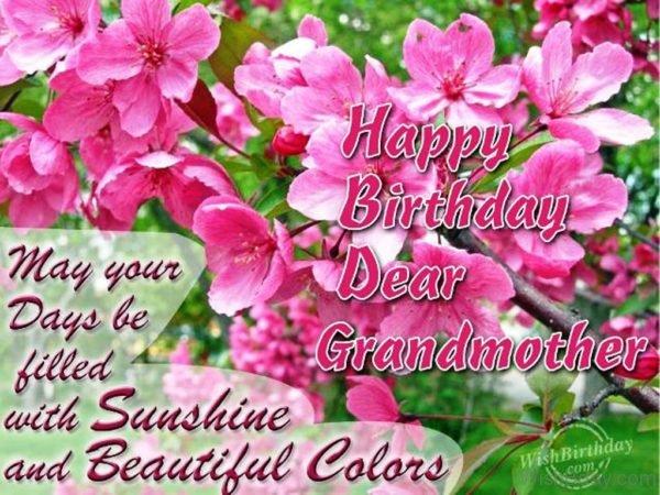 Wishing Happy Birthday To A Beautiful Grandmother