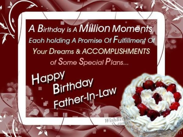 Wishing Happy Birthday To My Kind Hearted Father in Law