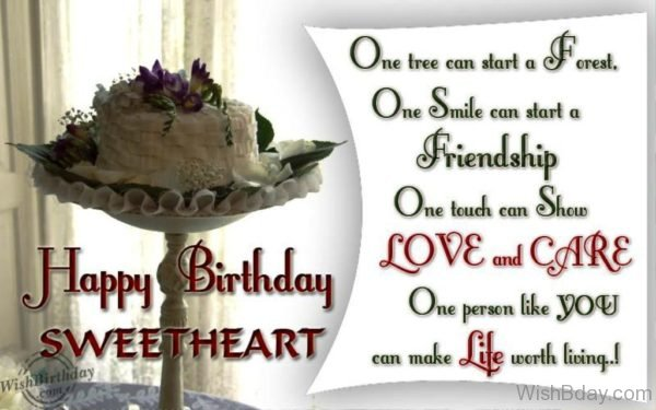 Wishing Happy Birthday To My Sweetheart