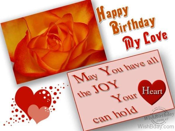 Wishing My Love A Very Happy Birthday