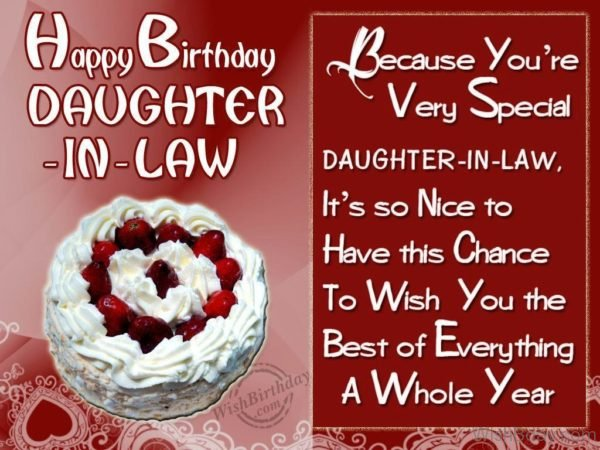 Wishing Special Birthday To My Special Daughter In Law 1