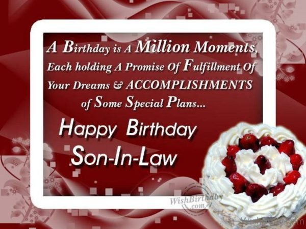 Wishing The Happiest Birthday To The Dearest Son in law