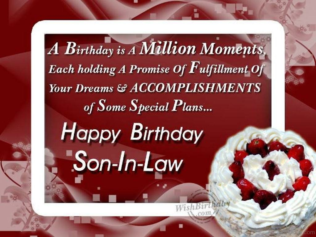 Wishing The Happiest Birthday To Dearest Son In Law