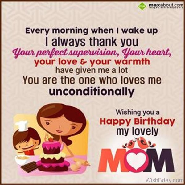 Wishing YOu A Happy Birthday My Lovely Mom