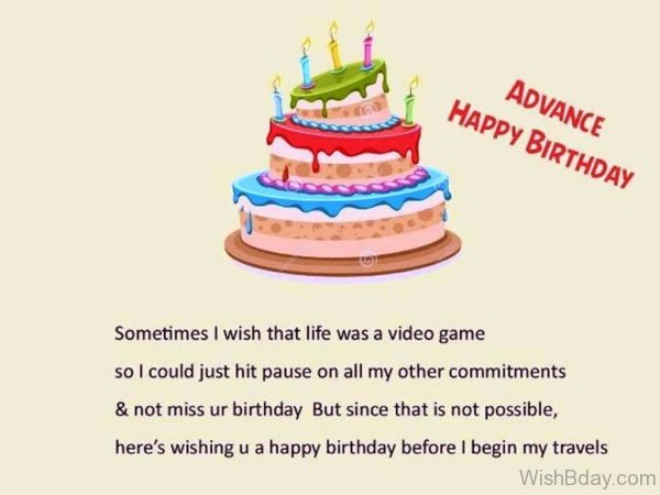 Wishing You A Happy Birthday Before