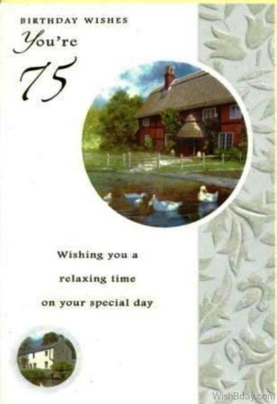 Wishing You A Relaxing Time On Your Special Day