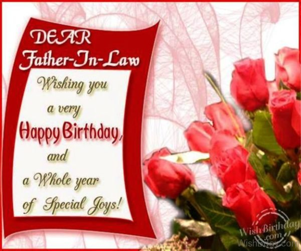 Wishing You A Very Happy Birthday Father In Law