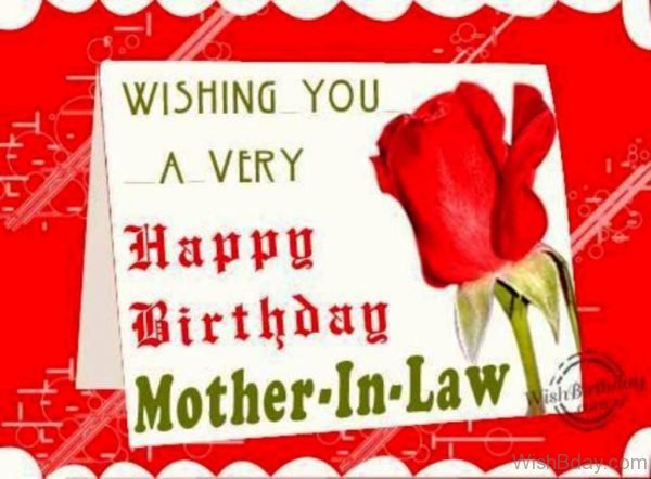 Wishing You A Very Happy Birthday Mother In Law