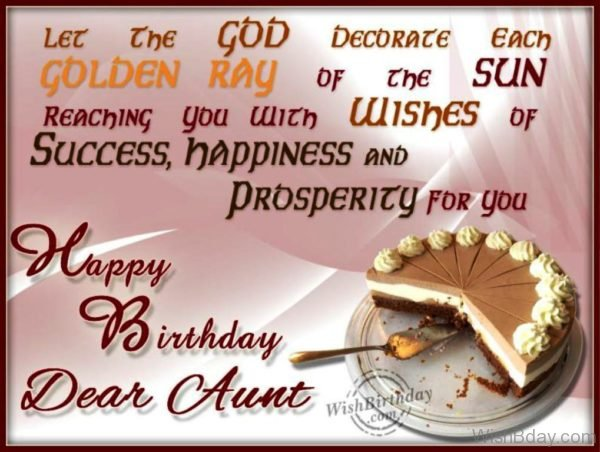 Wishing You Happy Birthday Dear Aunt