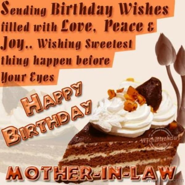 Wishing You Happy Birthday Dear Mother in law