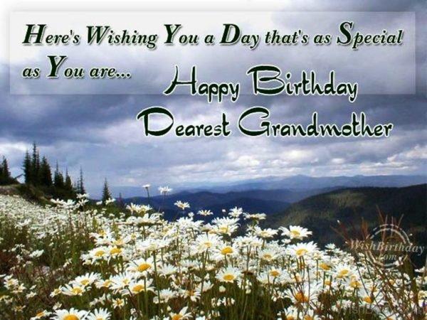 Wishing You Happy Birthday Dearest Grandmother