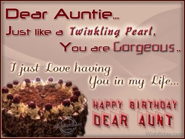 Wishing You Happy Birthday My Gorgeous Aunt
