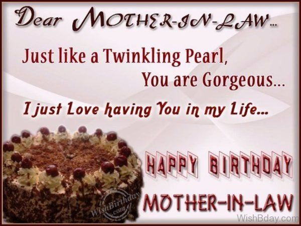 Wishing You Happy Birthday My Gorgeous Mother In Law