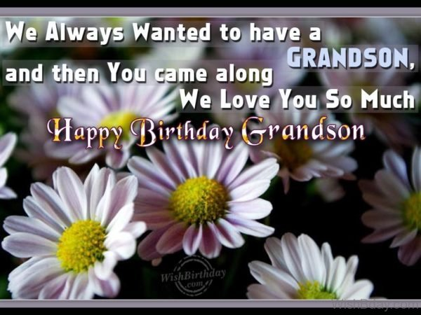 Wishing You Happy Birthday My Loving Grandson