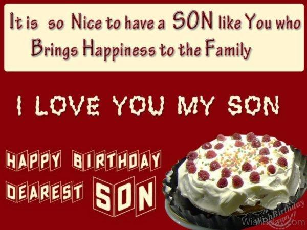 Wishing You Happy Birthday My Loving Son