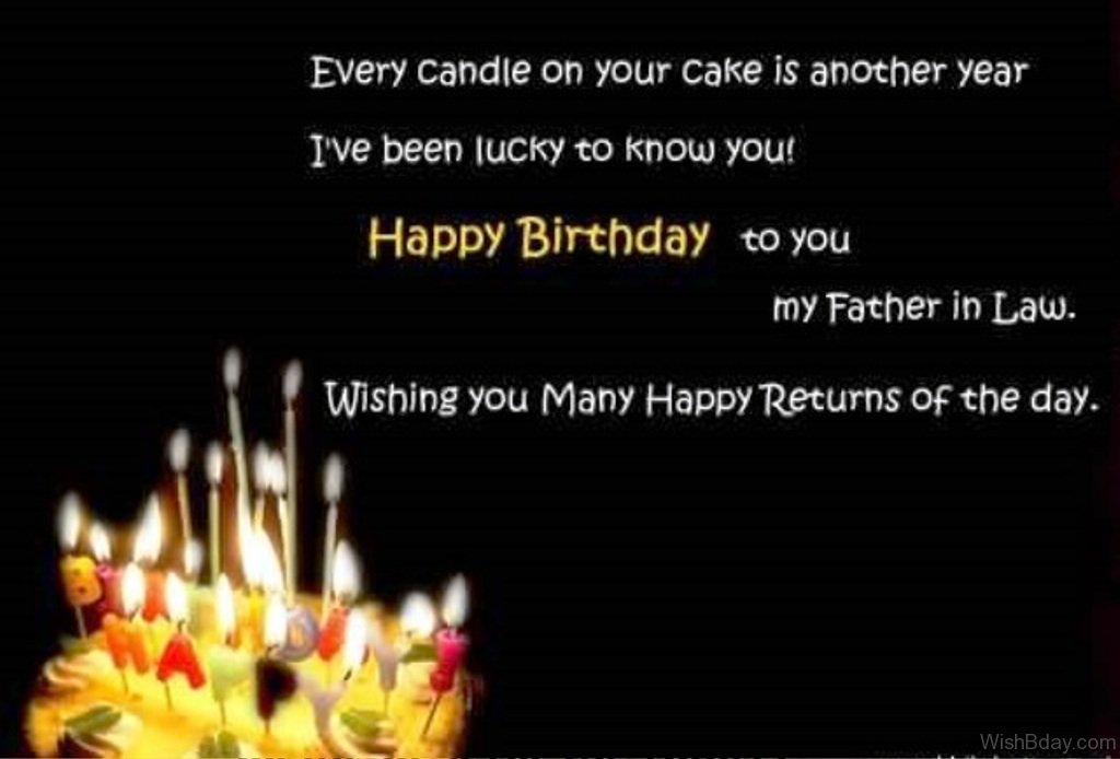 42 father in law birthday wishes wishing you many happy return of the day m4hsunfo