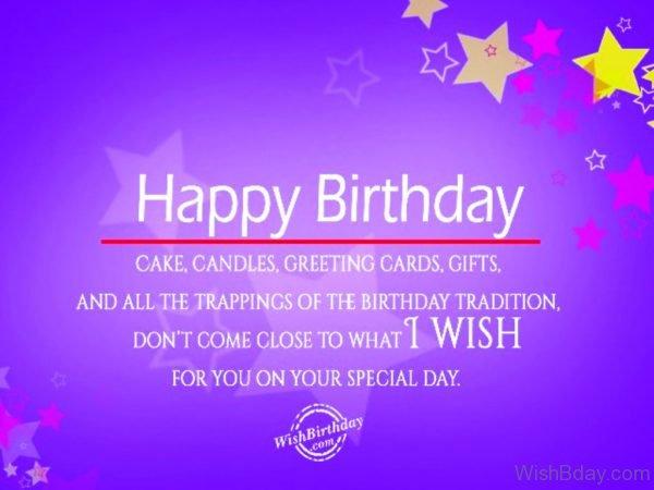 Wishing You Very Very Happy Birthday