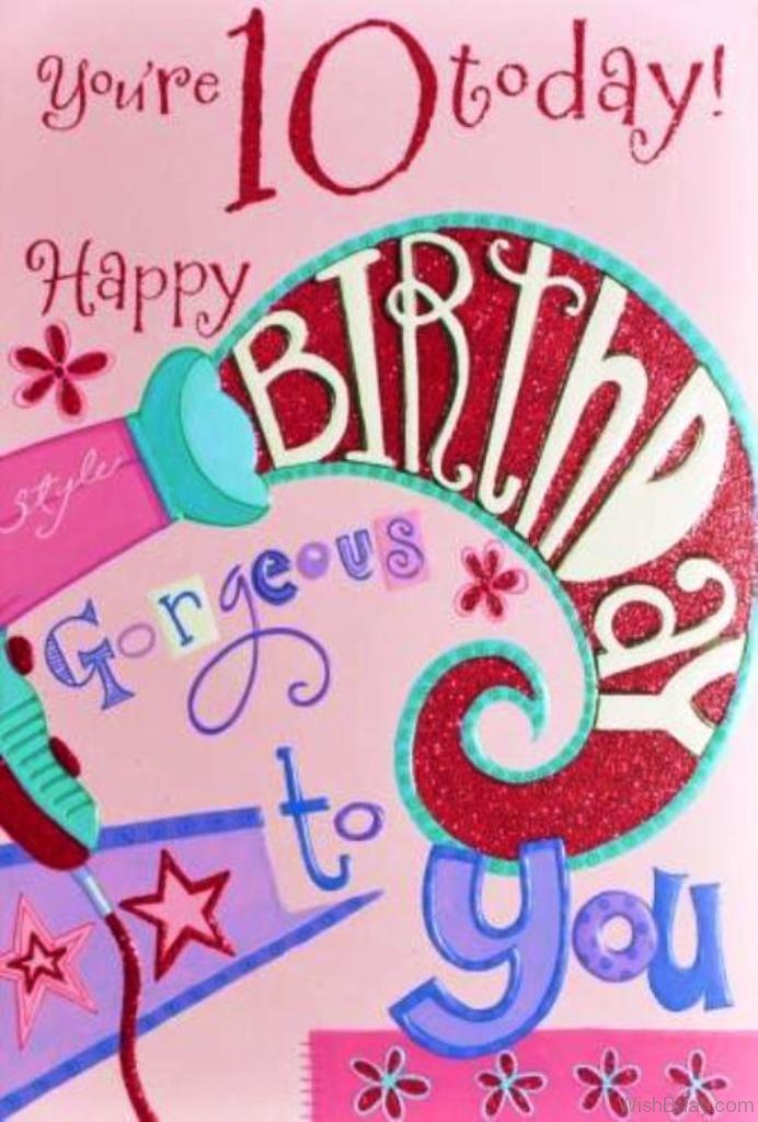 49 10th Birthday Wishes