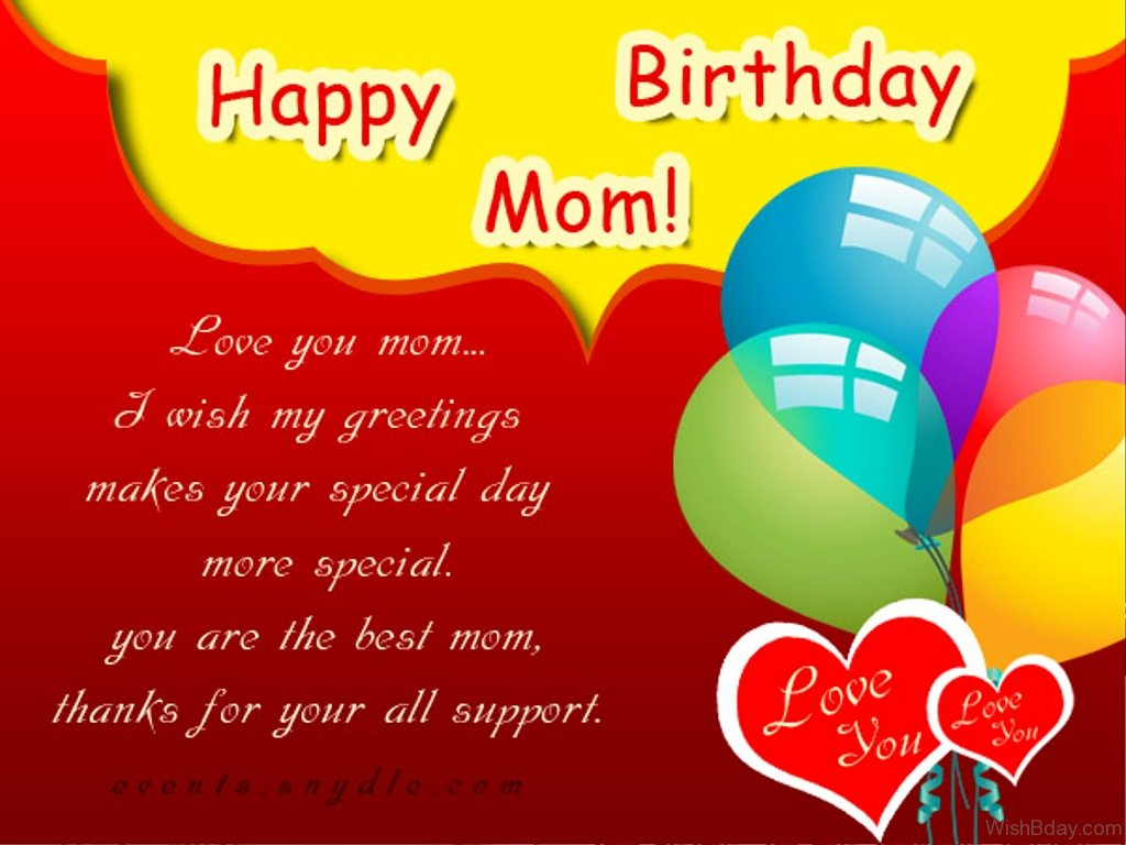 50 birthday wishes for mom you are the best mom thanks for your all support 1 kristyandbryce Gallery
