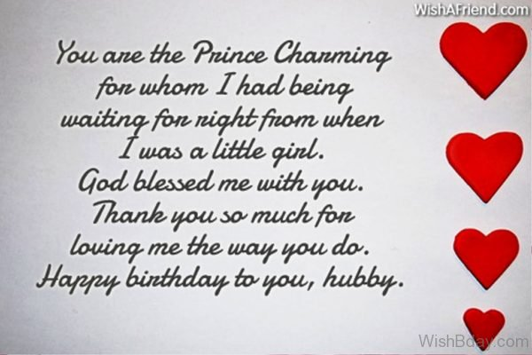 You Are The Prince Charming For Whom I Had Being Waiting For Night From When I Was A Little Girl