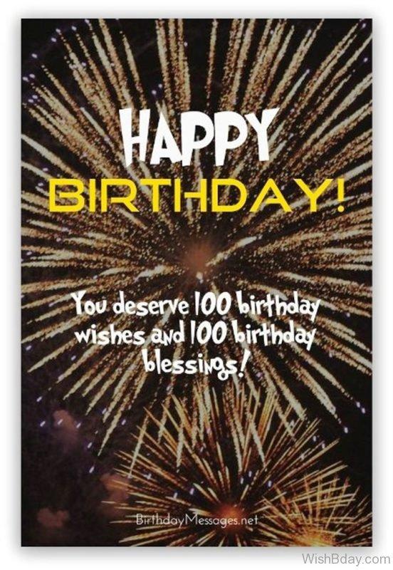 You Deserve Hundred Birthday