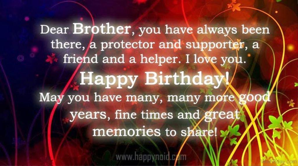 Happy birthday brother message