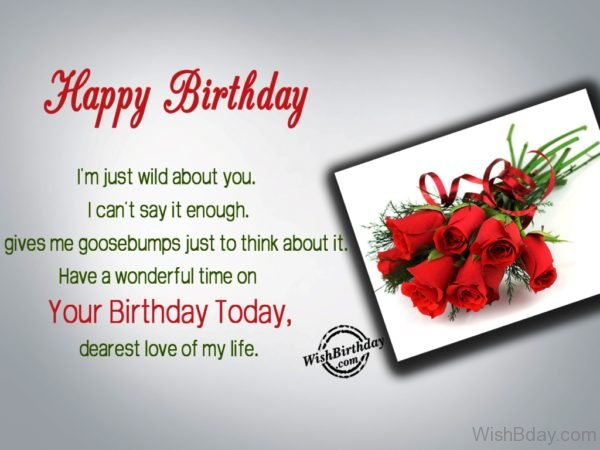 Your Birthday Today Dearest Love Of My Life
