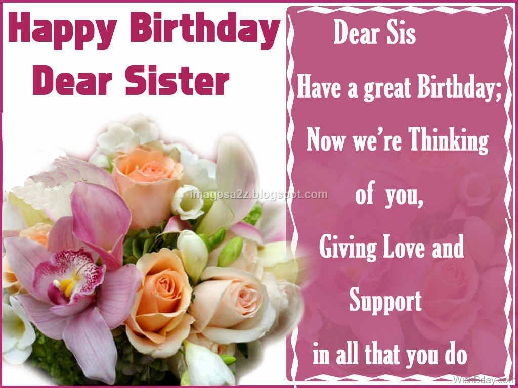 36 Birthday Wishes For Sister