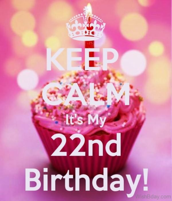 Keep Calm And Its My Twenty Two Birthday