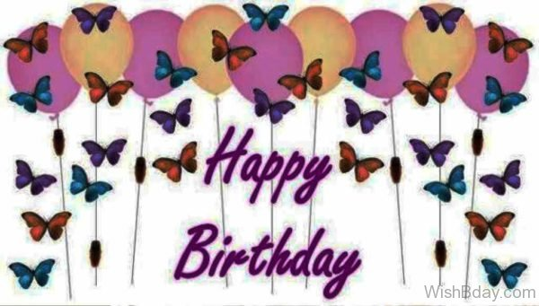 Copy of Happy Birthday With Colorful Butterflies 1