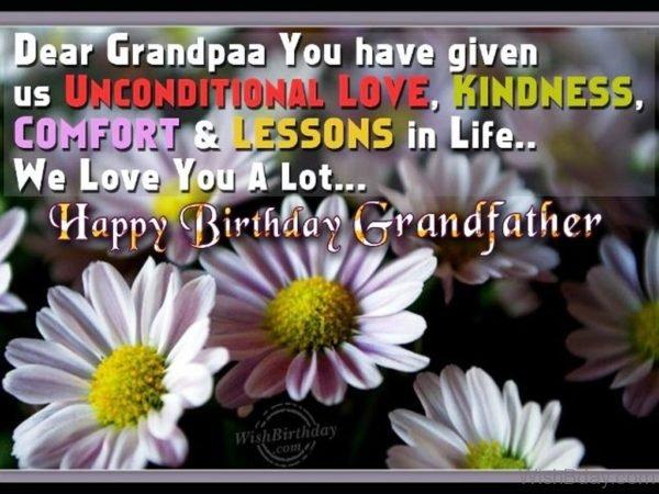 Dear Grandpa You Have Given Us Unconditional Love