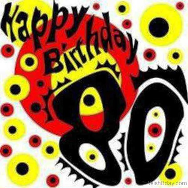 Eightyth Birthday Wishes Image