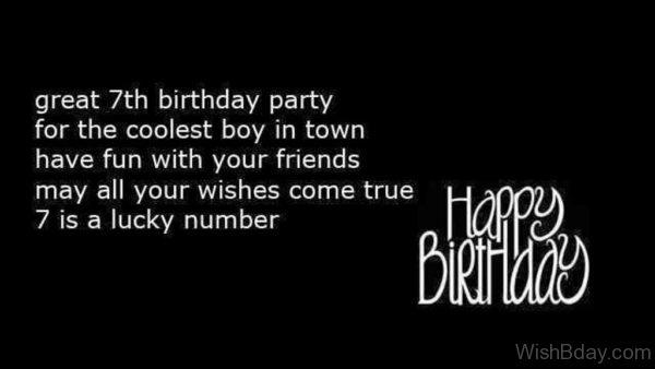 59 7th birthday wishes great seventh birthday party m4hsunfo