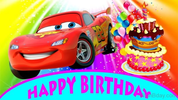 Happy Birth Day With Car