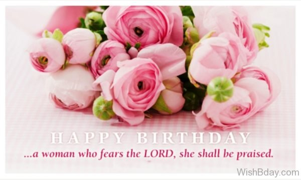 Happy Birthday A Woman Who Fears The Lord