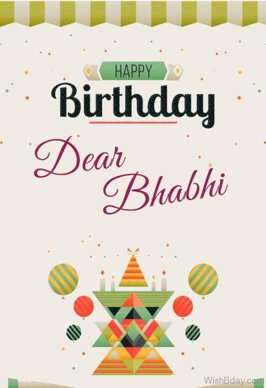 Happy Birthday Bhabhi Nice Image