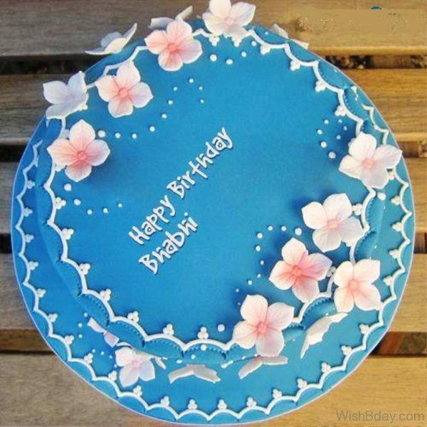 Happy Birthday Bhabhi With Cake