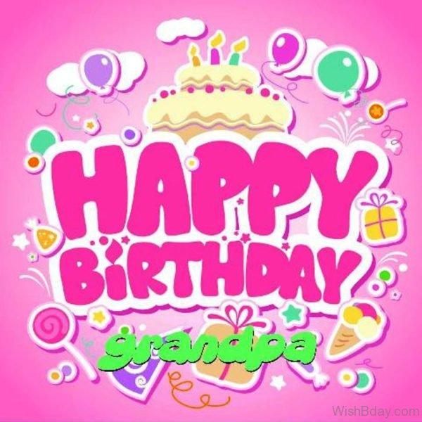 Happy Birthday Dear Grandpa Nice Image