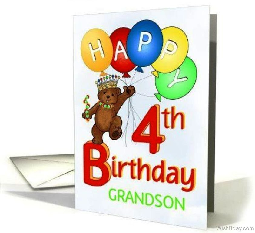 Happy Birthday Four Year Old