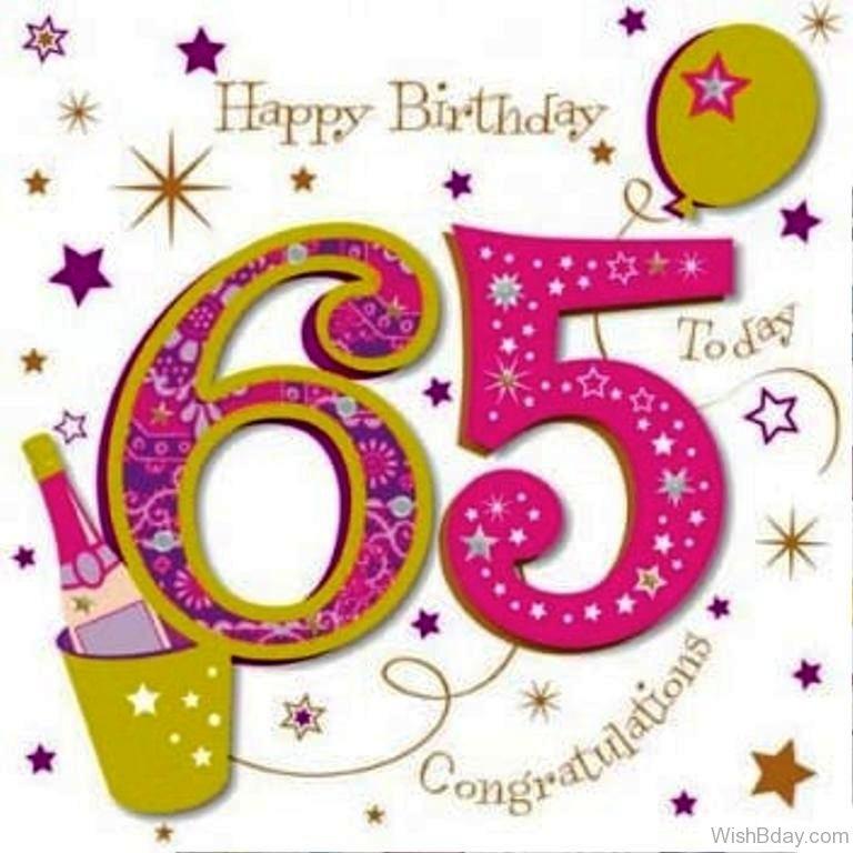 48 65th Birthday Wishes