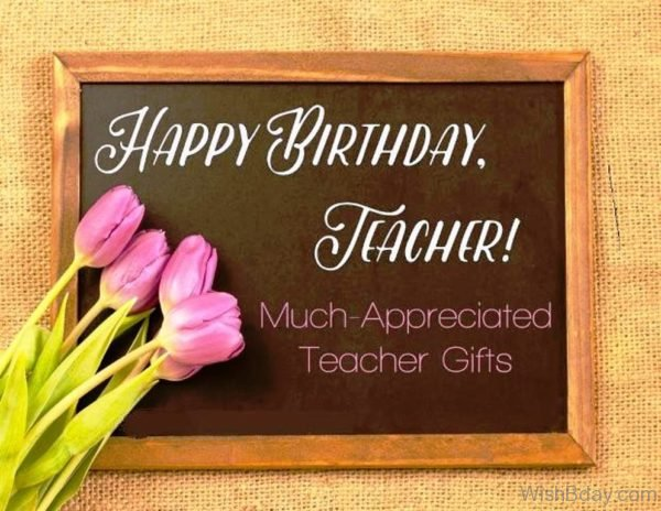 Happy Birthday Teacher